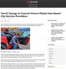 Reuters – Christien New converts Power Plant to Smart City